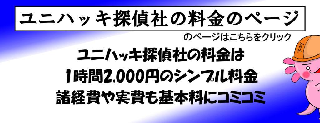 ユニハッキ探偵社の料金ページ